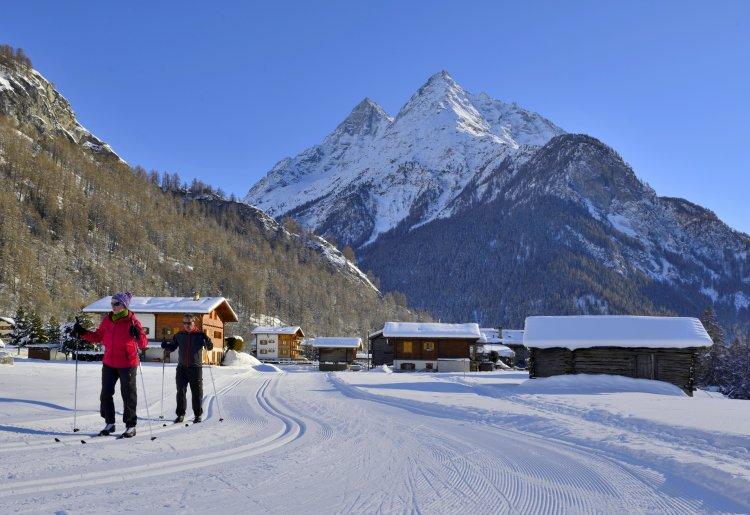 Secteur nordique et piste de ski de fond d'Evolène / Les Haudères