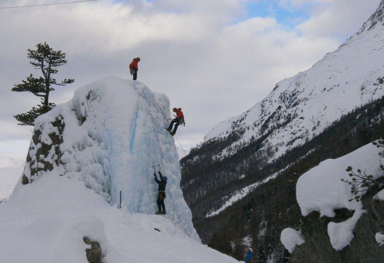 Ice climbing trainig spot