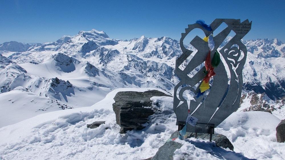 Klettern - die Rosablanche, von der Cabane  de Prafleuri aus