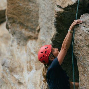 Climb the rocks of Pramousse