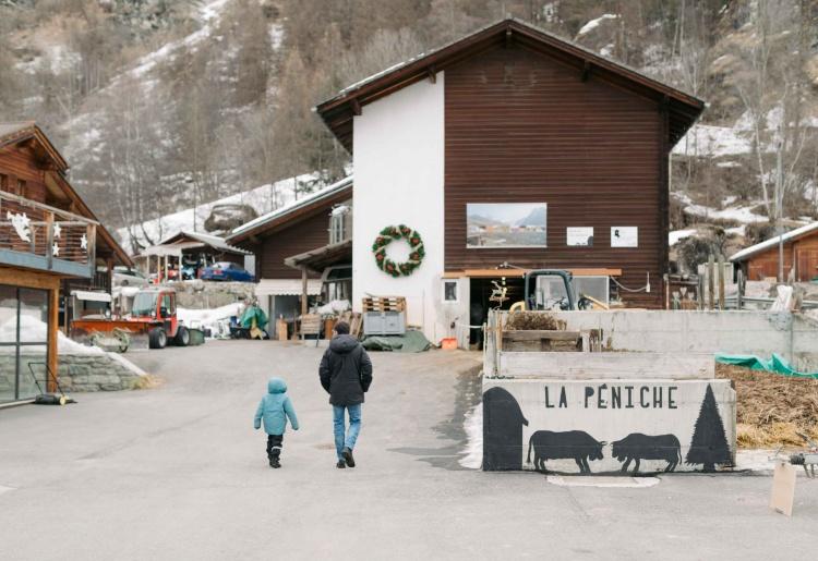 Besuch des Bauernhofs Clos-Lombard in Evolène